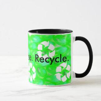 Caneca Reduza. Reusar. Recicl