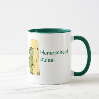 Caneca Regras de Homeschool!