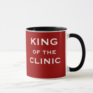 Caneca Rei do nome engraçado do doutor ou do clínico da