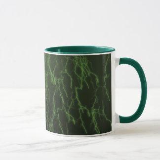 Caneca Relâmpago chovendo verde