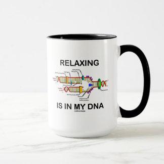 Caneca Relaxar está em meu ADN (a réplica do ADN)