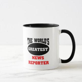 Caneca Repórter da notícia do mundo o grande,