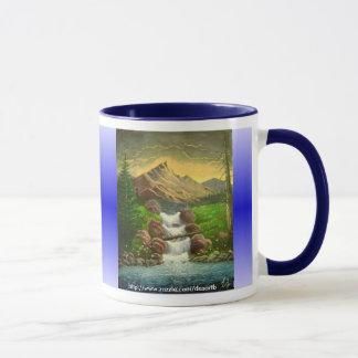 Caneca Respingo da montanha (customizável)