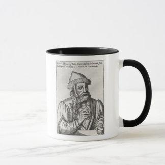 Caneca Retrato de Johannes Gutenberg