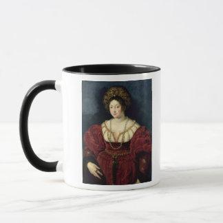 Caneca Retrato póstumo do d'Este de Isabella