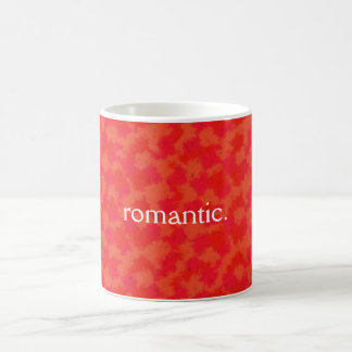 Caneca romântica, fundo abstrato
