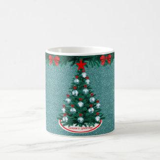 Caneca Roping do ornamento da árvore de Natal da