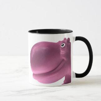 Caneca Rosa feliz do hipopótamo