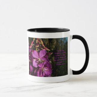 Caneca roxa do incentivo da flor do 120:1 do salmo