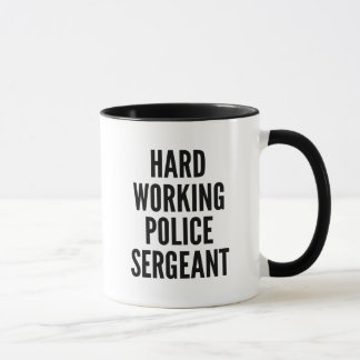 Caneca Sargento de polícia de trabalho duro
