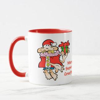 Caneca sazonal alegre do Natal do papai noel