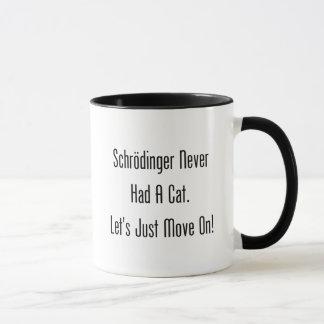 Caneca Schrodinger nunca teve um gato. Deixe-nos apenas