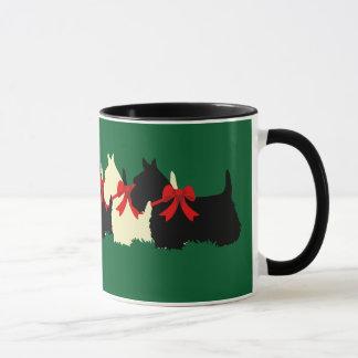 Caneca Scottish coração preto/wheaten de Terrier da