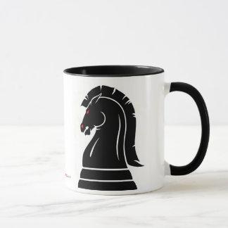 Caneca selvagem branca & preta da parte de xadrez