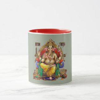 Caneca Senhor Ganesh, deus Hindu da riqueza & Properity