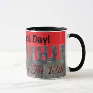 Caneca Sexta-feira feliz o 13o copo de café das madeiras