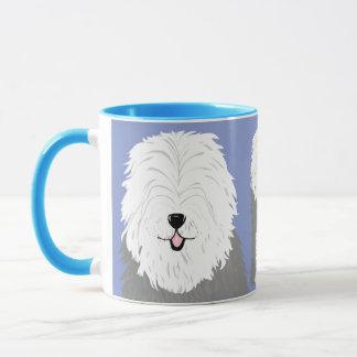 Caneca Sheepdog inglês velho (com olhos cobertos)