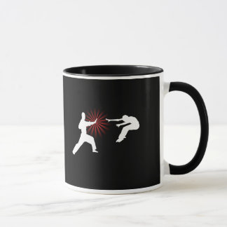 Caneca Silhueta da energia das artes marciais