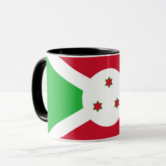 Caneca Símbolo da bandeira de país de Burundi por muito