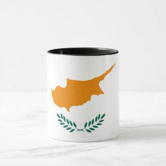 Caneca Símbolo da bandeira de país de Chipre por muito