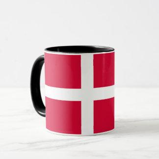 Caneca Símbolo da bandeira de país de Dinamarca por muito