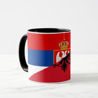 Caneca símbolo do país da bandeira de serbia Albânia meio
