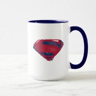 Caneca Símbolo do superman da escova & da reticulação da