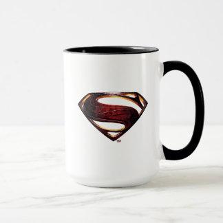 Caneca Símbolo metálico do superman da liga de justiça |
