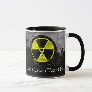 Caneca Símbolo radioativo do Grunge