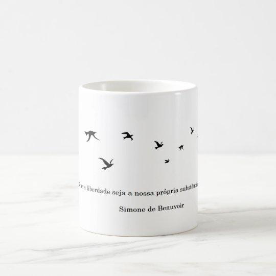 Caneca Simone de Beuavoir - Liberdade