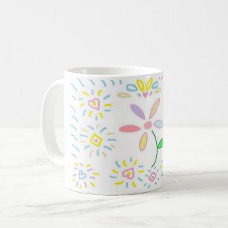 Caneca simples do design da flor