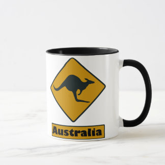 Caneca Sinal de estrada de Austrália - cruzamento do