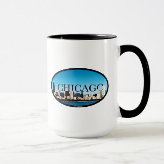 Caneca Skyline de Chicago, Illinois com a Dallas no céu