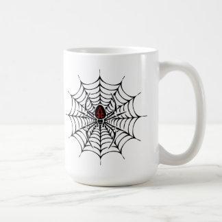 Caneca Sneaky do Dia das Bruxas da aranha
