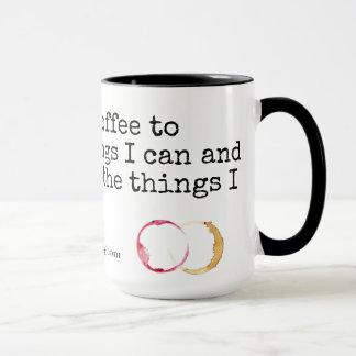 Caneca Sobre o café e o vinho