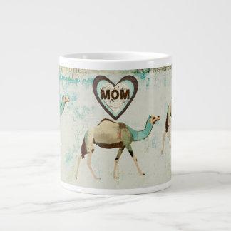 Caneca sonhadora da mamã dos camelos canecas de café muito grande