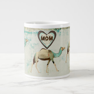 Caneca sonhadora da mamã dos camelos jumbo mug
