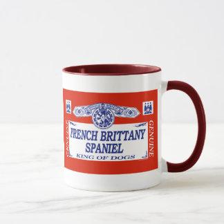 Caneca Spaniel de Brittany do francês