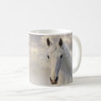 Caneca Sparkling do cavalo branco