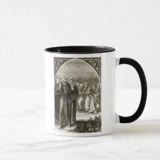 Caneca St. Columba que chanting, e atacado pelos Druids,