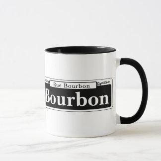 Caneca St. de Bourbon, sinal de rua de Nova Orleães