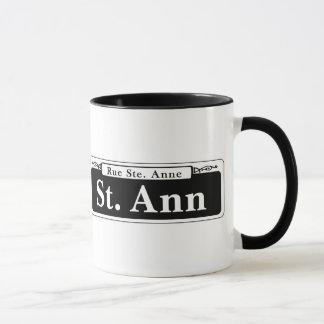 Caneca St. de St Ann, sinal de rua de Nova Orleães