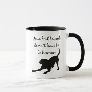 Caneca Sua arte inspirada das citações do cão de