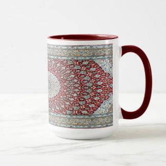 Caneca Tapete persa em avermelhado