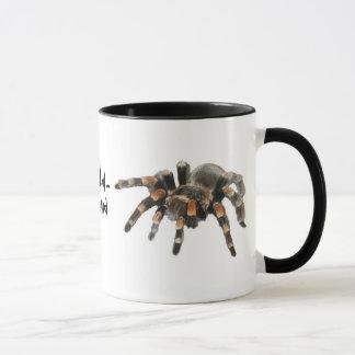 Caneca Tarantula, tarantul-mania, aranha grande