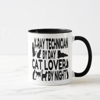 Caneca Técnico do raio X do amante do gato