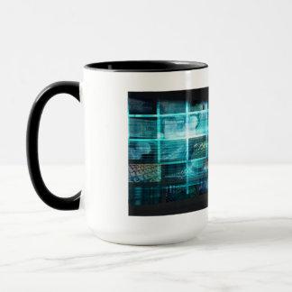 Caneca Tecnologia da informação ou ELE Infotech como uma