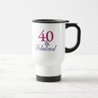 Caneca Térmica 40 e fabuloso (aniversário de 40 anos)