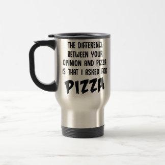 Caneca Térmica A diferença entre você e a pizza