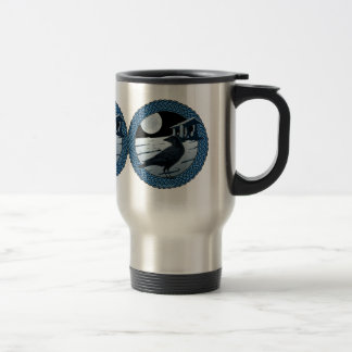 Caneca Térmica A lua, o corvo e o dólmâ celtas projetam #1